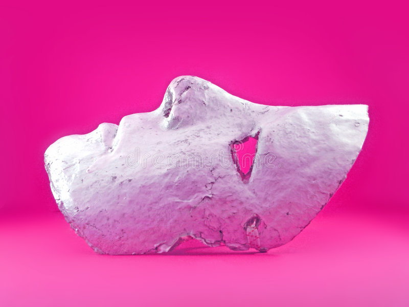 Pink Mask royalty free stock photo