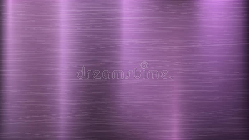 Pink Metal Abstract Technology Background. Polished, Brushed Texture. Chrome, Silver, Steel, Aluminum. Vector illustration. Metal Abstract Technology Background vector illustration