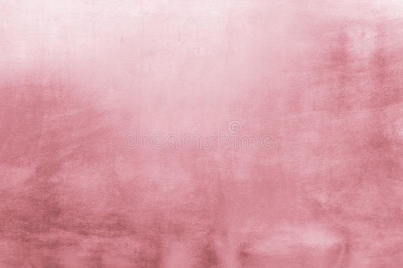 Pink metal background or texture and gradients shadow, rose gold color.  stock image