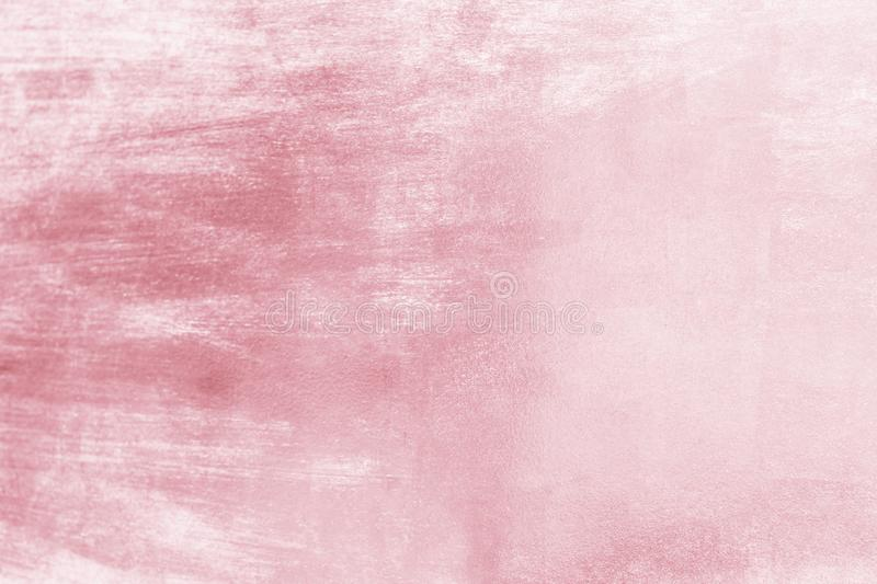 Pink metal background or texture and gradients shadow, rose gold color.  royalty free stock image