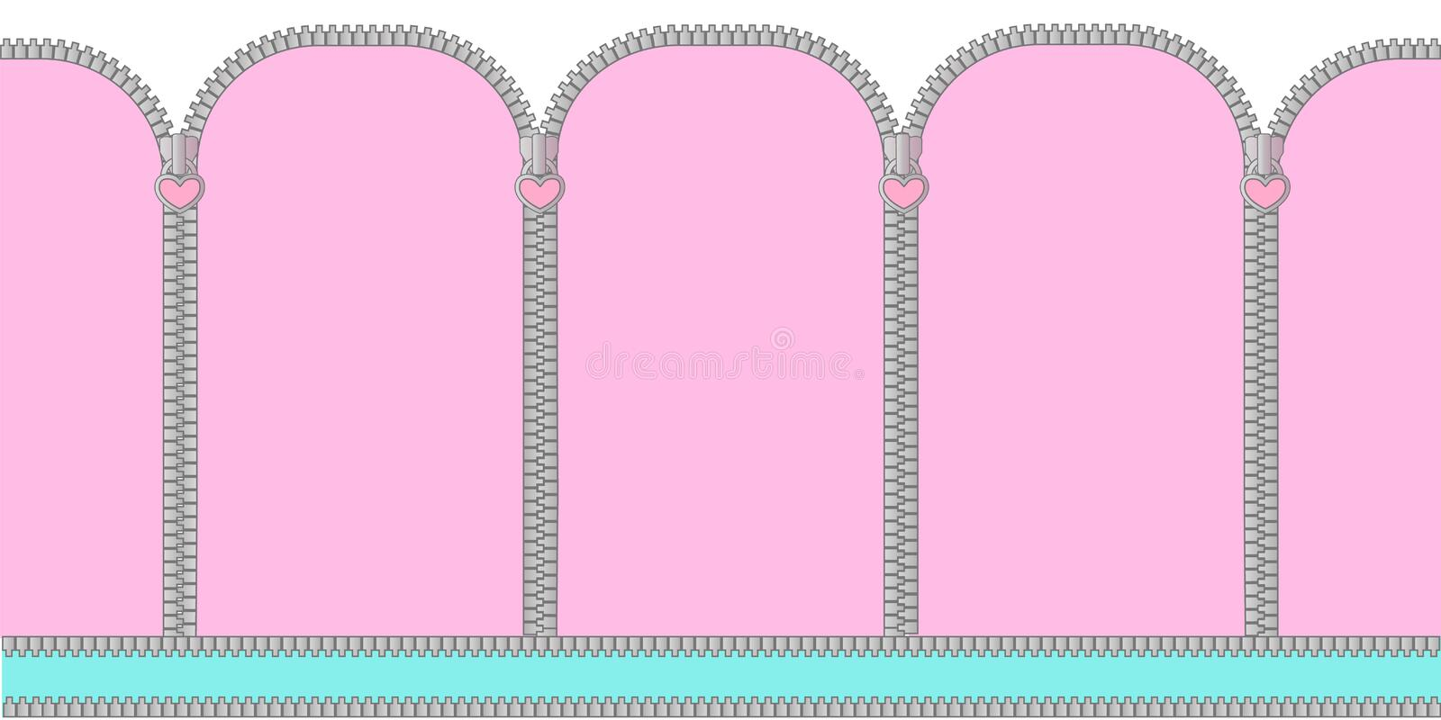 Pink and mint turquoise seamless background with arched window . Candy shop showcase backdrop. Decoration banner themed Lol doll Princess girlish photo booth vector illustration