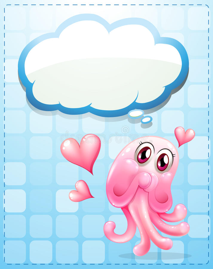 Download A Pink Monster With An Empty Thought Stock Illustration - Image: 34462326