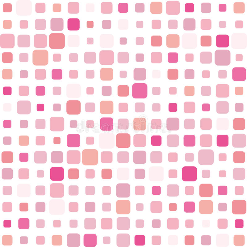 Pink mosaic background stock illustration