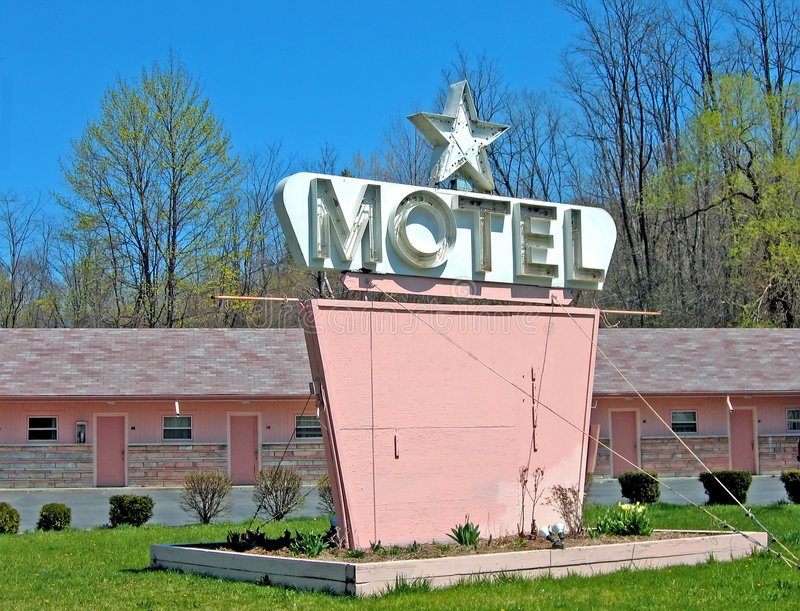 Download Pink Motel stock photo. Image of spring, hotel, blank, sign - 106974