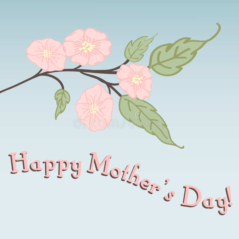 Pink mother's day card vector illustration