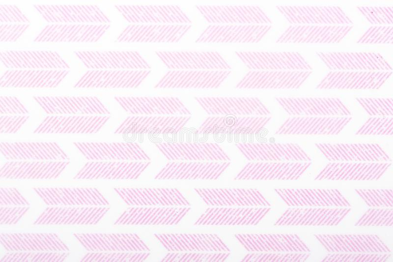 Pink motif design white lines pattern paper for textile wallpaper pattern fills covers surface print gift wrap scarf on brown stock photo