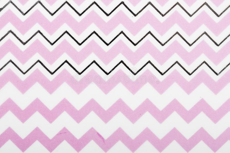 Pink motif design white lines pattern paper for textile wallpaper pattern fills covers surface print gift wrap scarf on brown royalty free stock image