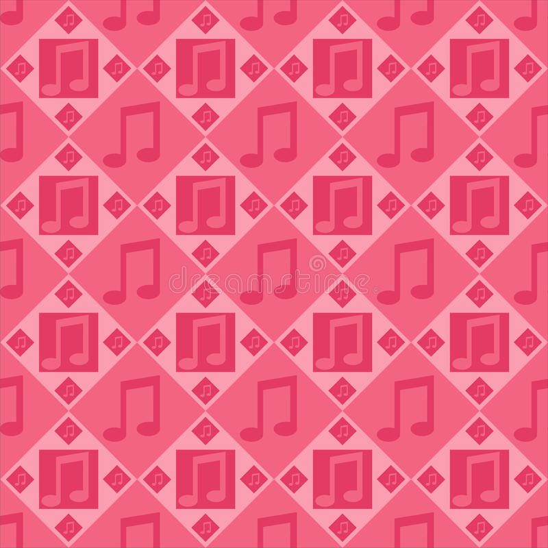 Download Pink musical notes pattern stock vector. Image of seamless - 21706476