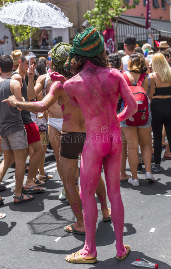 naked gay pride march