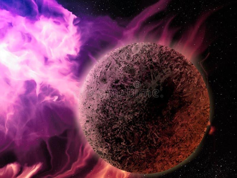 Download Pink Nebula - Digital Painting Stock Illustration - Image: 22223436