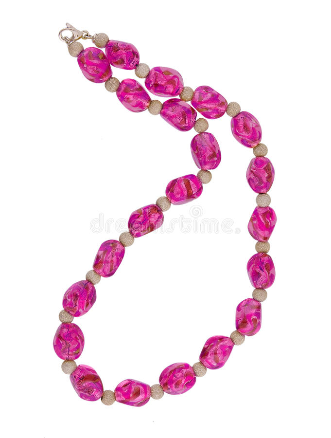 Pink necklace stock image