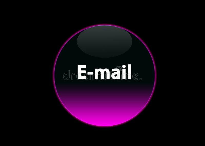 Pink neon buttom e-mail vector illustration