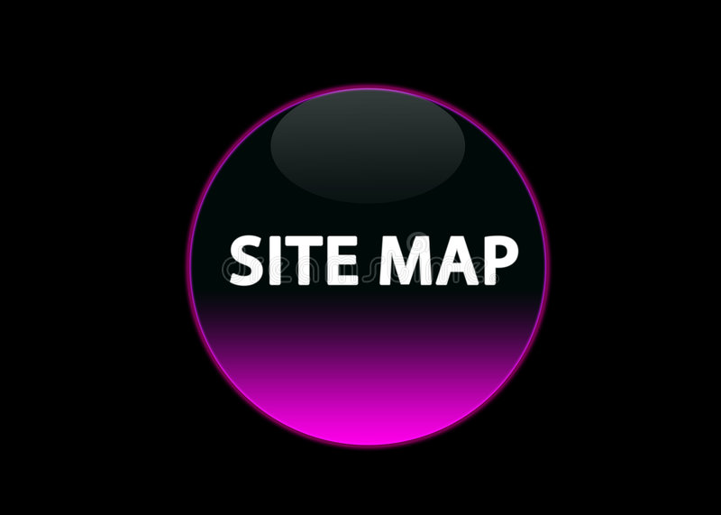 Pink neon buttom site map royalty free illustration