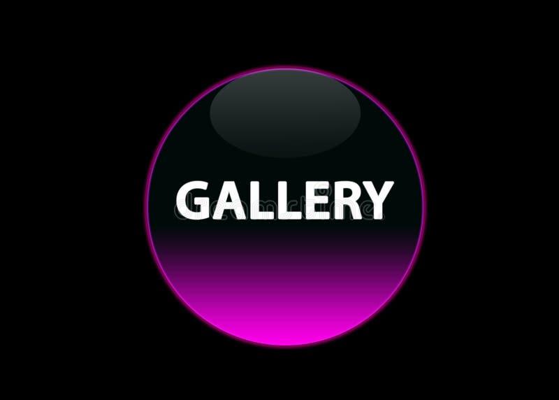 Pink neon button gallery stock illustration