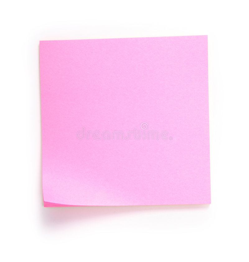 Pink note royalty free stock image