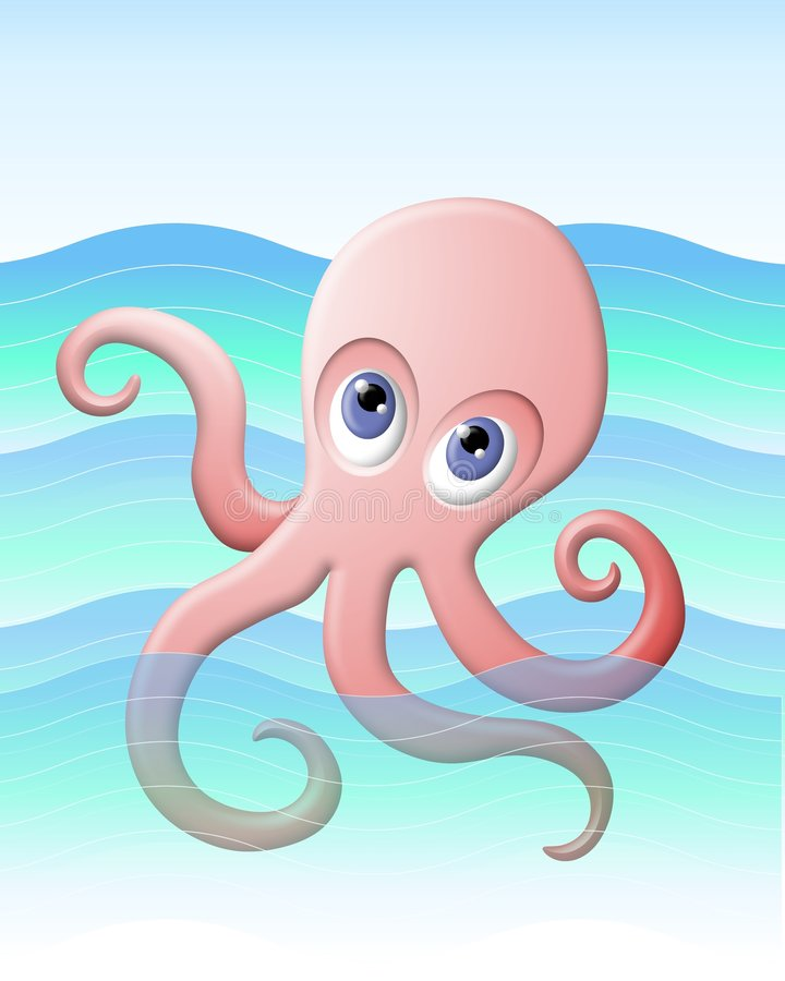 Free Pink Octopus In The Sea Royalty Free Stock Images - 5343699