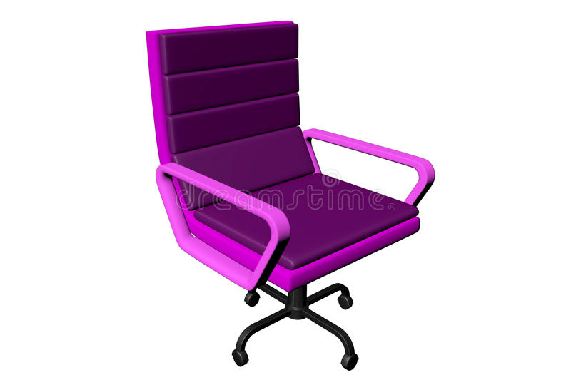 Pink office chair stock photography