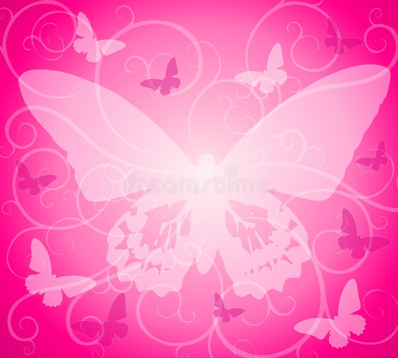 Download Pink Opaque Butterfly Background Stock Illustration - Image: 4389517