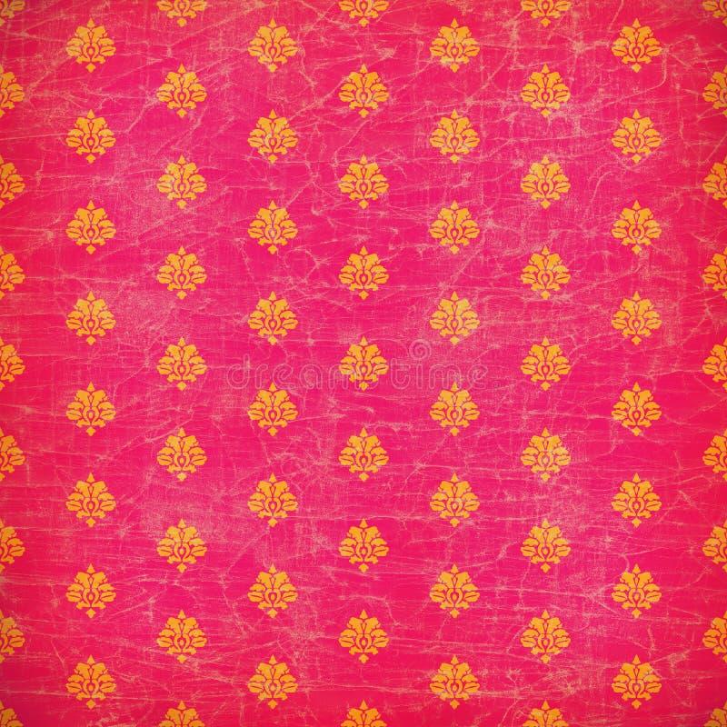 Download Pink And Orange Damask Grunge Wallpaper Stock Image - Image: 7682119