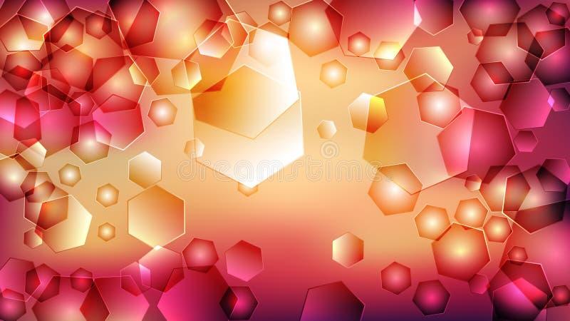 Pink Orange Heart Background Beautiful elegant Illustration graphic art design Background. Image royalty free illustration