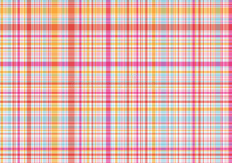 Download Pink And Orange Plaid Pattern Stock Vector - Illustration: 2541736