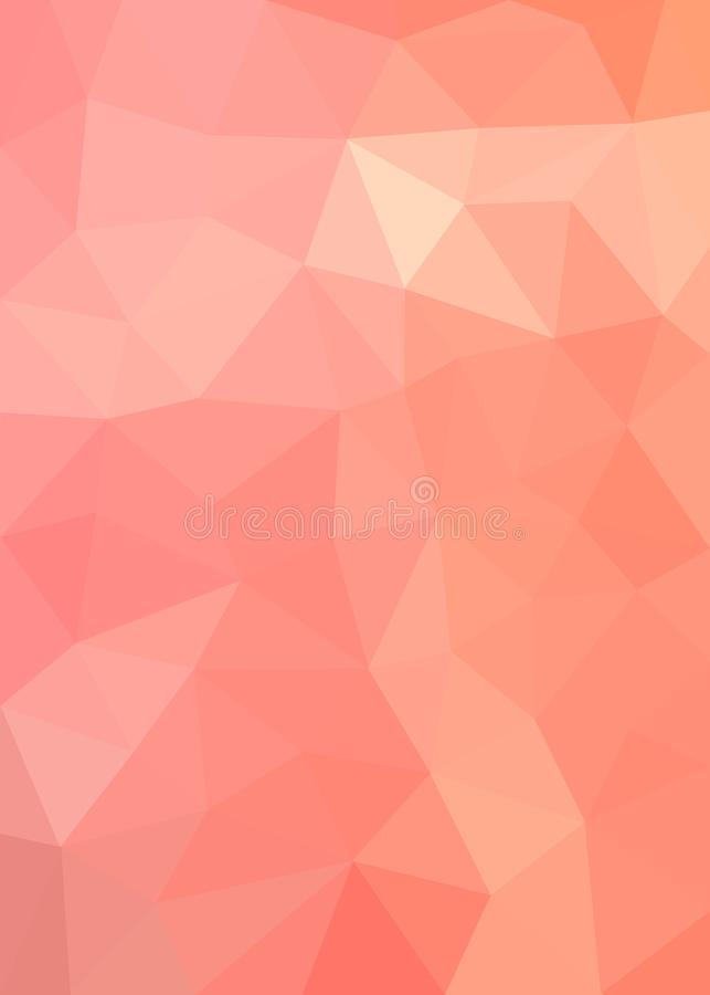 Pink and Orange Polygonal Texture for Abstract Background vector illustration