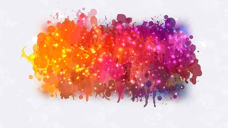 Pink and orange with sparkle brush strokes blob. Vector version royalty free illustration
