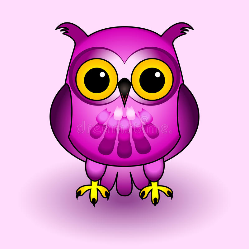 Download Pink owl stock vector. Image of nocturnal, friendly, cute - 26968651