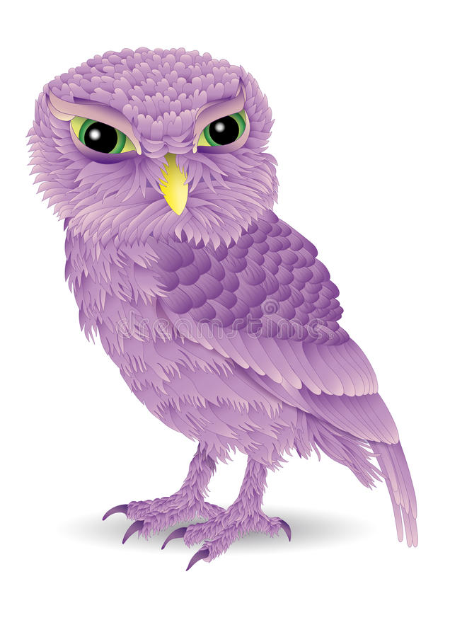 Pink Owl Cartoon Stock Images
