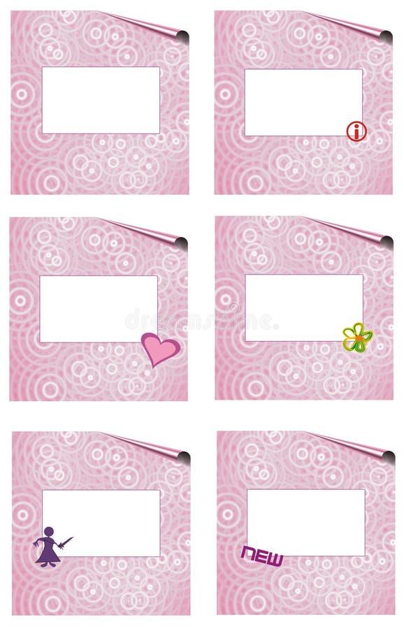 Download Pink page set witk symbols stock illustration. Illustration of free - 10991271