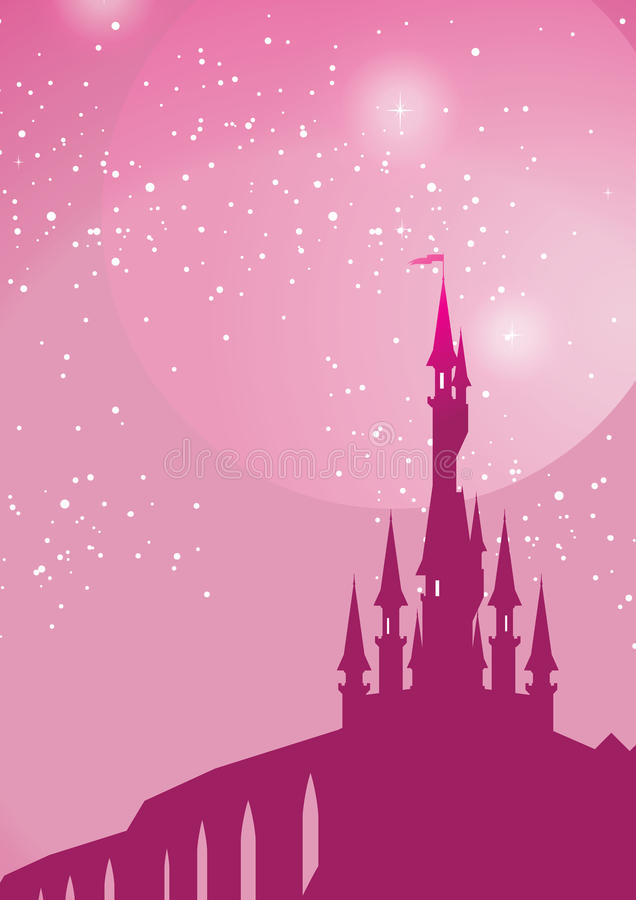 Download Pink palace stock vector. Image of starry, star, cinderella - 23260583