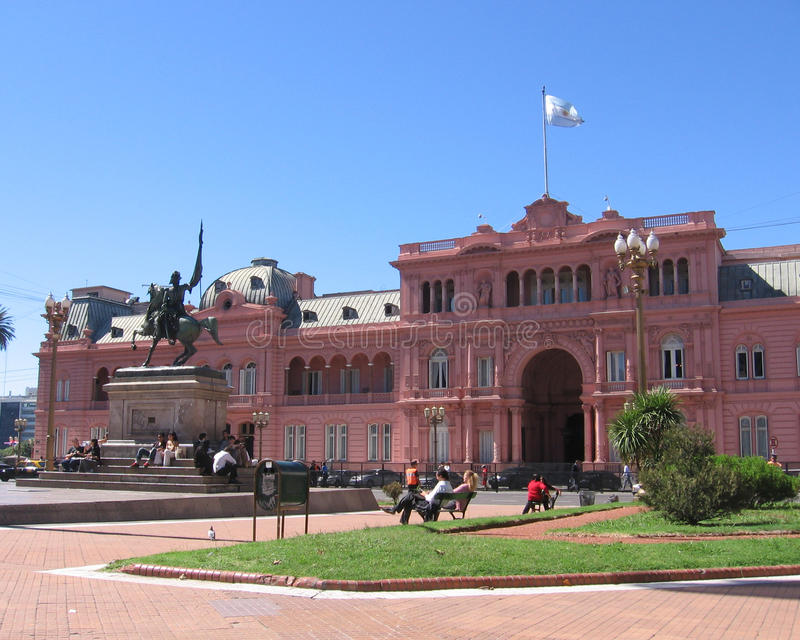 Pink Palace, Buenos Aires, Argentina royalty free stock images