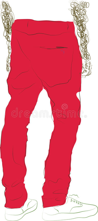 He pink pants royalty free stock photo