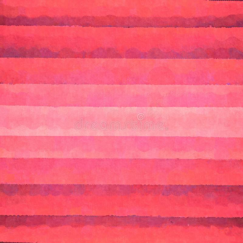 Pink paper background. Pattern of pink watercolor strips royalty free illustration