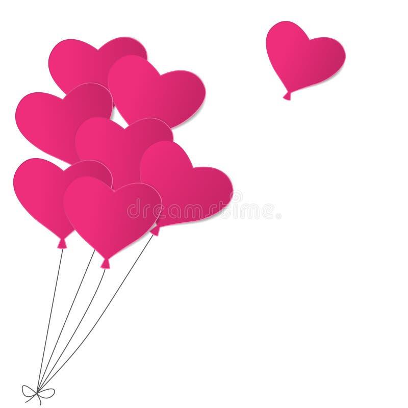 Pink paper balloons royalty free illustration