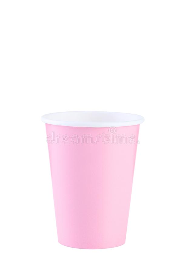 Pink paper cup royalty free stock image