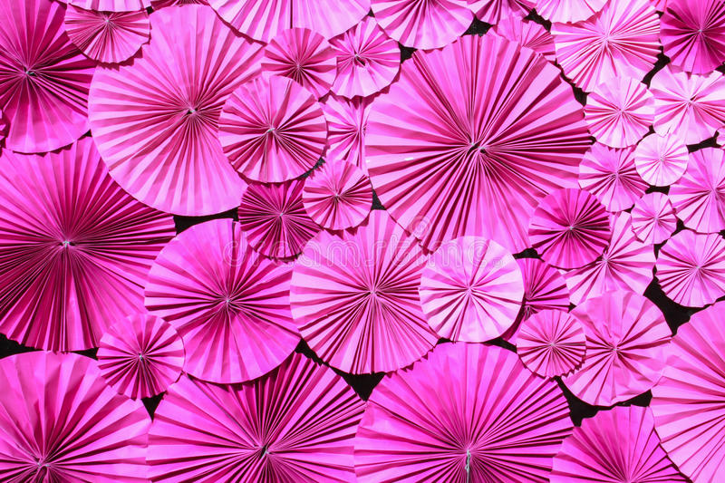 Pink paper flower. Background, decoration stock photography