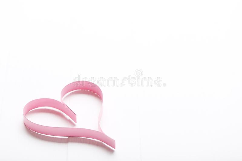 Pink paper heart stock image