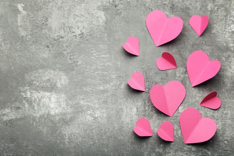 Pink paper hearts royalty free stock photos