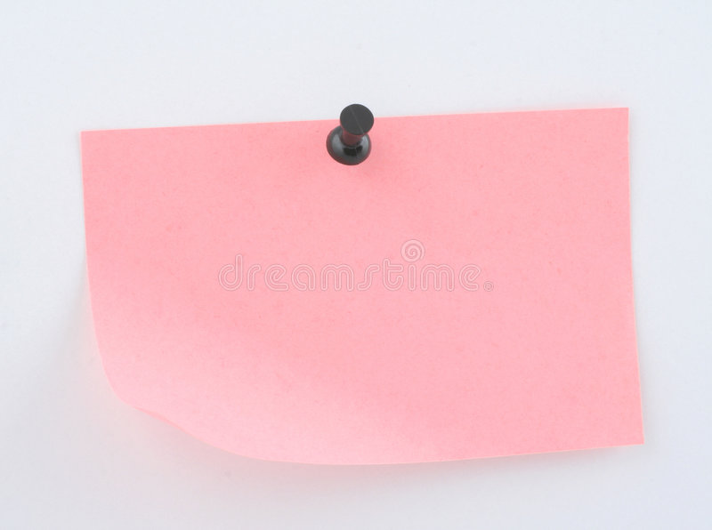 Download Pink paper sheet  pinned stock photo. Image of bounds, confine - 715184