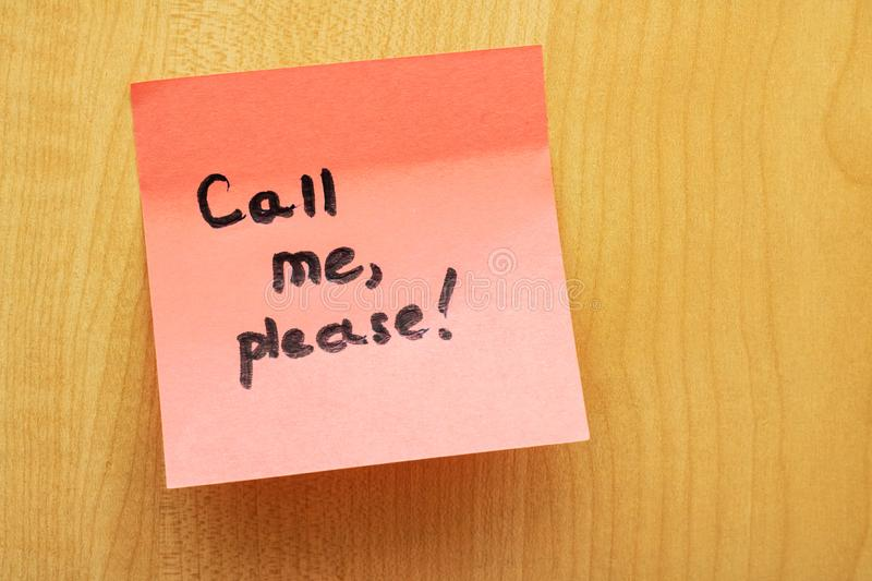 how to make please call me in stc