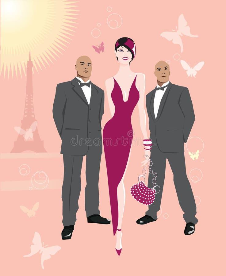 Pink Paris 2 stock image