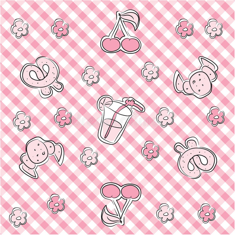 Download Pink Pastel Baby Background Stock Vector - Illustration of glass, croissant: 10067099