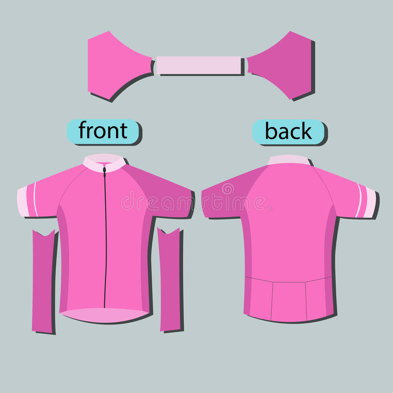 pink pattern cycling jerseys template stock vector illustration of