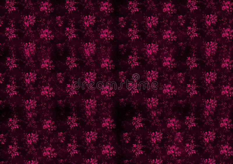 Pink pattern floral background design for wallpaper stock illustration
