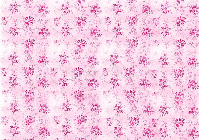 Pink pattern floral background design for wallpaper vector illustration