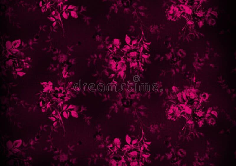 Pink pattern floral background design for wallpaper royalty free illustration