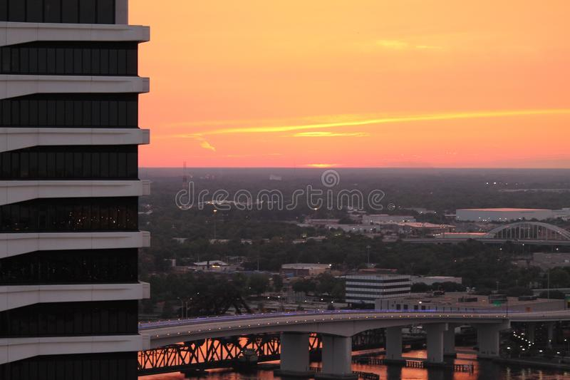 Pink Peach Orange Sky royalty free stock photos
