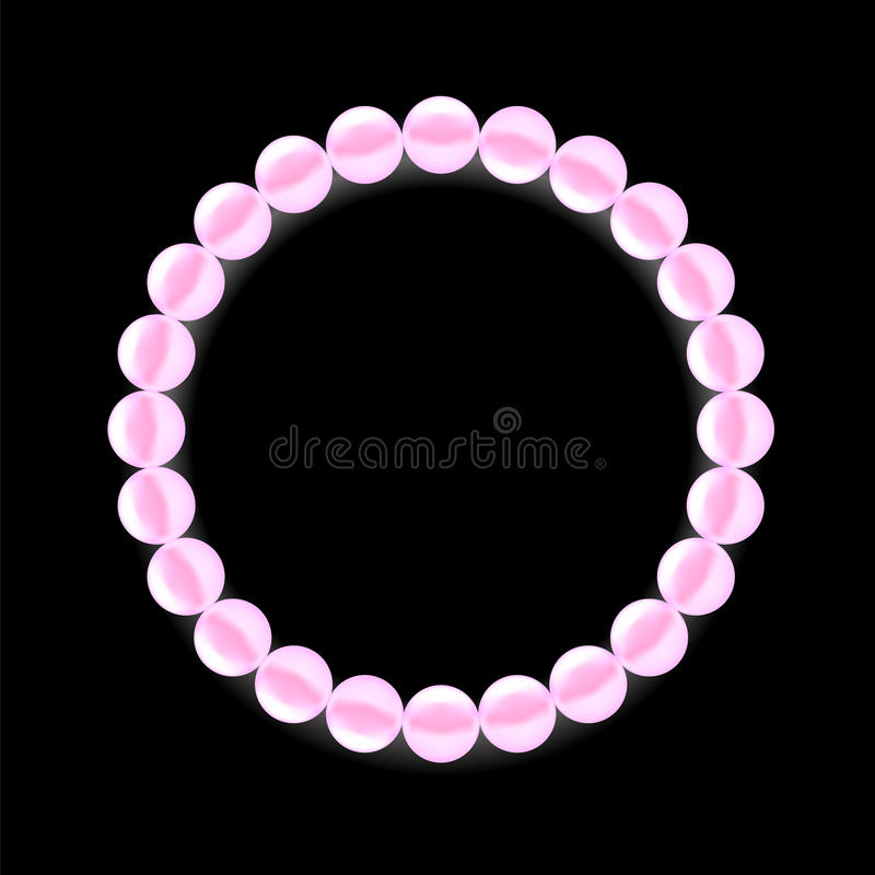 Pink Pearl Necklace stock illustration