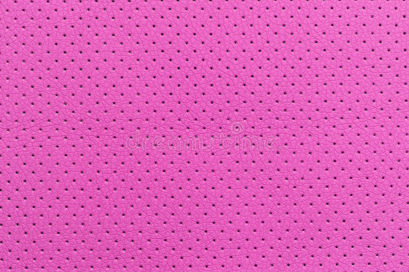 Pink Perforated Artificial Leather Background Texture Royalty Free Stock Photo
